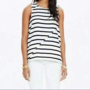 Madewell Tank Blouse Striped